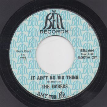THE EMBERS - IT AIN'T NO BIG THING