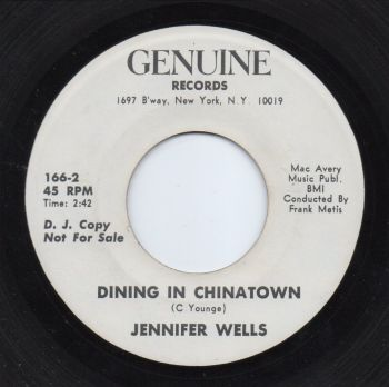 JENNIFER WELLS - DINING IN CHINATOWN