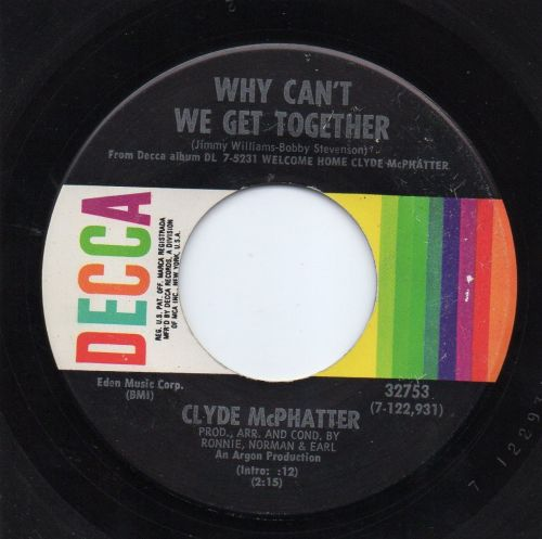 CLYDE MCPHATTER - WHY CAN'T WE GET TOGETHER