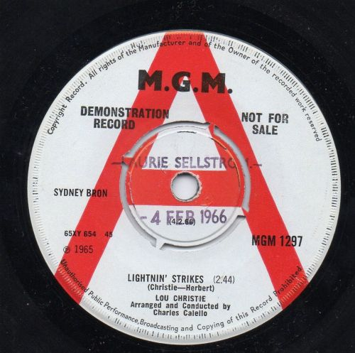 LOU CHRISTIE - LIGHTNIN' STRIKES