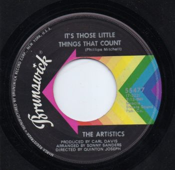 THE ARTISTICS - IT'S THOSE LITTLE THINGS THAT COUNT