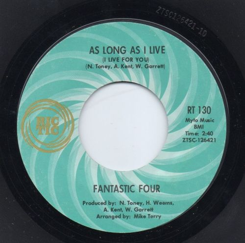 FANTASTIC FOUR - AS LONG AS I LIVE (I LIVE FOR YOU)