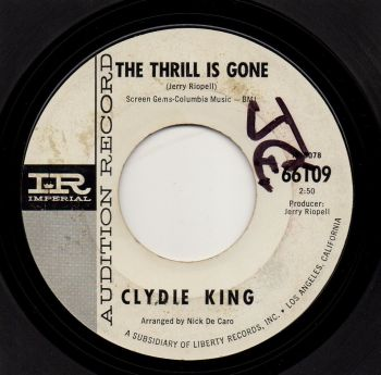 CLYDIE KING - THE THRILL IS GONE