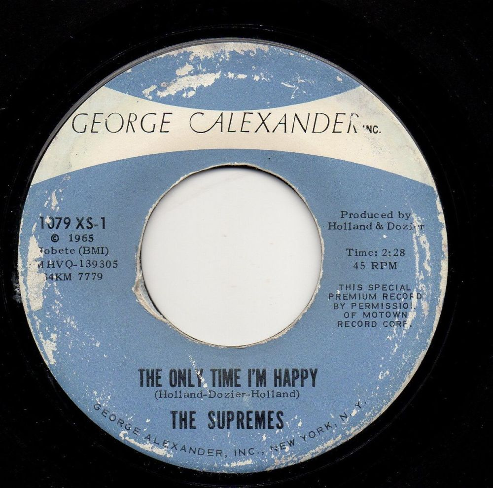 THE SUPREMES - THE ONLY TIME I'M HAPPY
