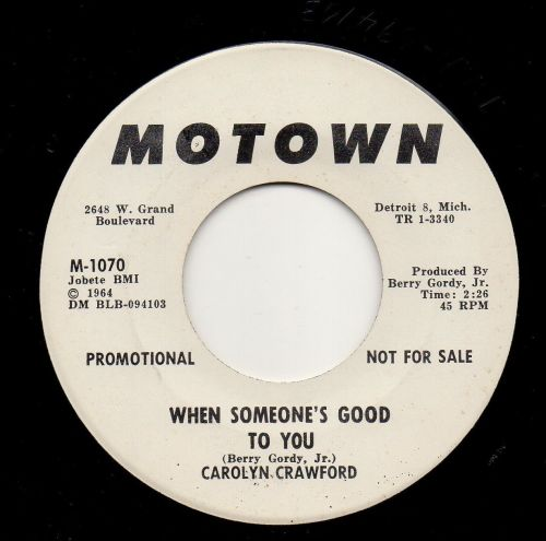 CAROLYN CRAWFORD - WHEN SOMEONE'S GOOD TO YOU