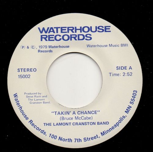 THE LAMONT CRANSTON BAND - TAKIN' A CHANCE