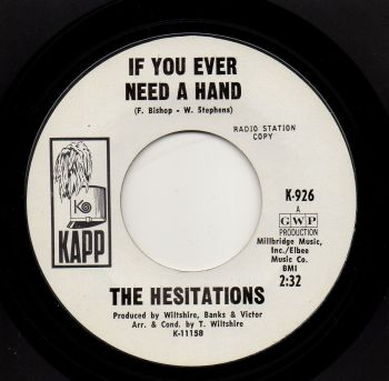 THE HESITATIONS - IF YOU EVER NEED A HAND