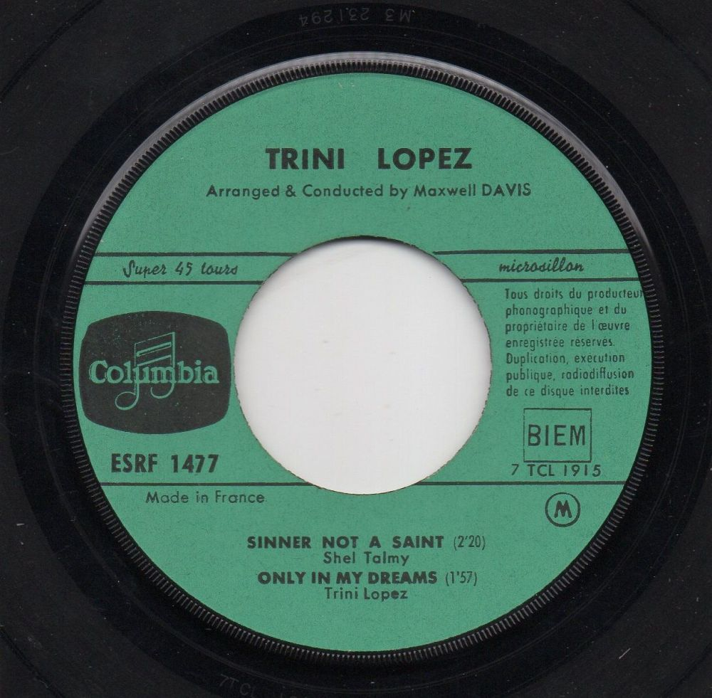 TRINI LOPEZ - SINNER NOT A SAINT