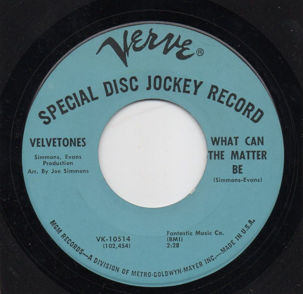 VELVETONES - WHAT CAN THE MATTER BE