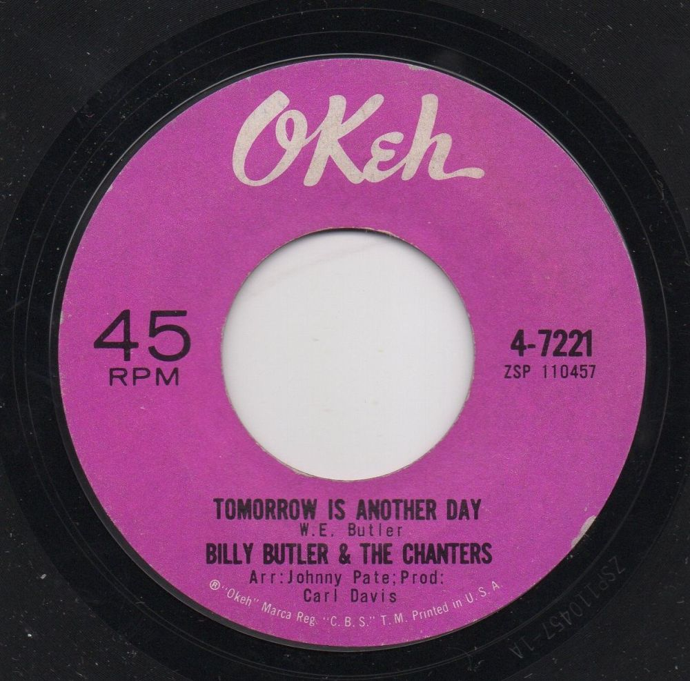 BILLY BUTLER & THE CHANTERS - TOMORROW IS ANOTHER DAY