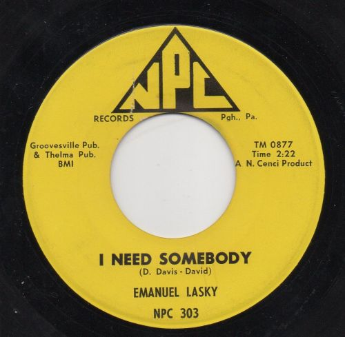 EMANUEL LASKY - I NEED SOMEBODY