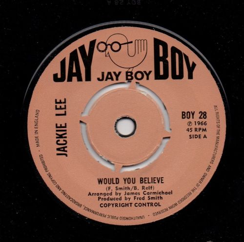 JACKIE LEE - WOULD YOU BELIEVE