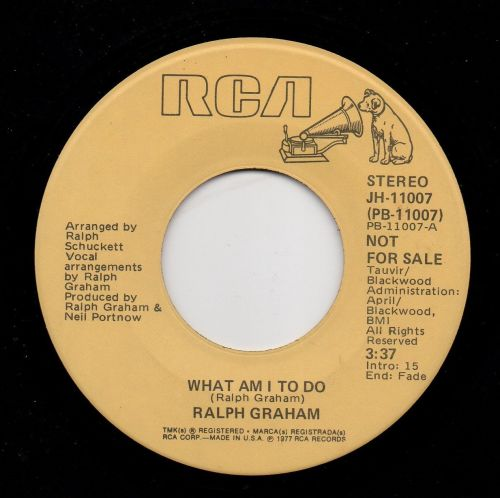 RALPH GRAHAM - WHAT AM I TO DO