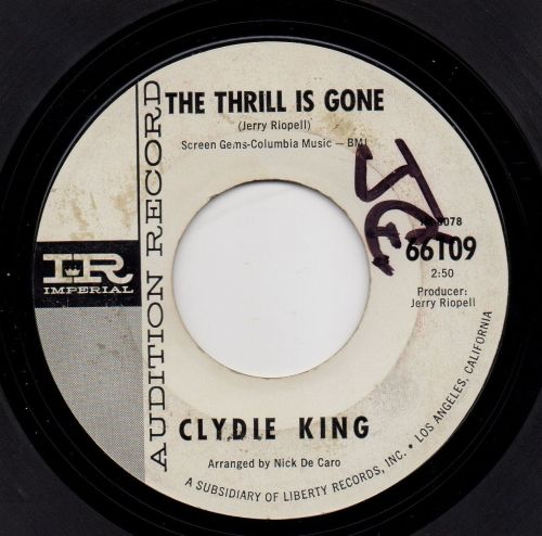 CLYDIE KING - THE THRILL IS GONE`