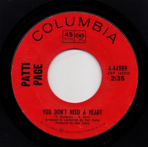 PATTI PAGE - YOU DON'T NEED A HEART