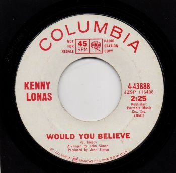 KENNY LONAS - WOULD YOU BELIEVE
