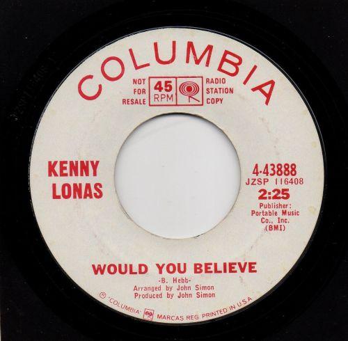 KENNY LONAS - WOULD YOU BELIEVE