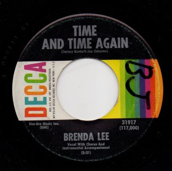 BRENDA LEE - TIME AND TIME AGAIN
