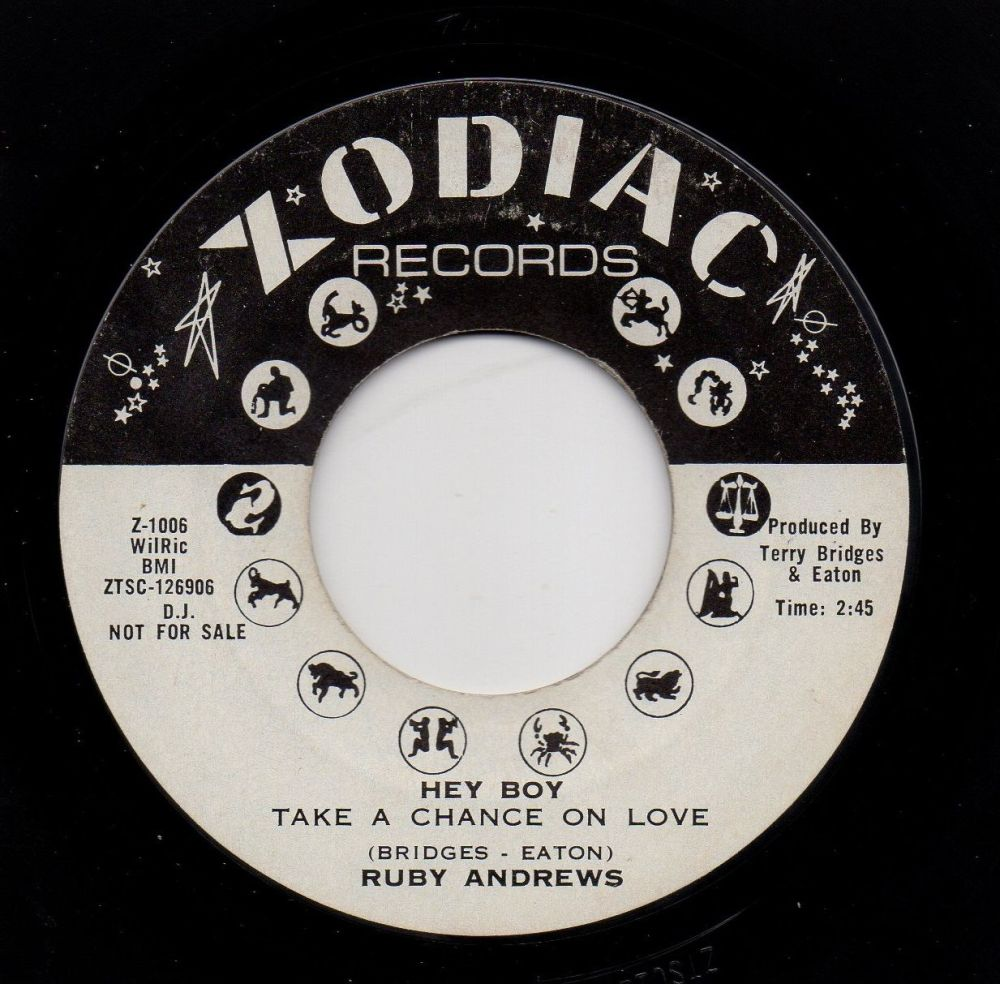 RUBY ANDREWS - HEY BOY (TAKE A CHANCE ON LOVE)