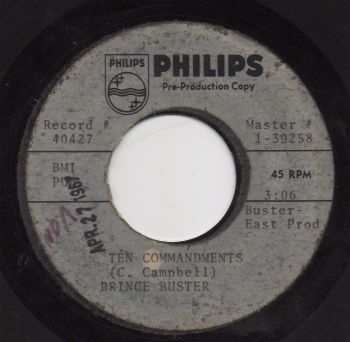 PRINCE BUSTER - TEN COMMANDMENTS (ACETATE)