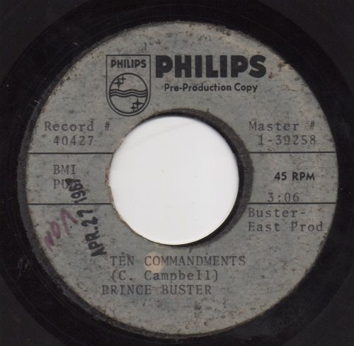PRINCE BUSTER - TEN COMMANDMENTS (ACETATE)