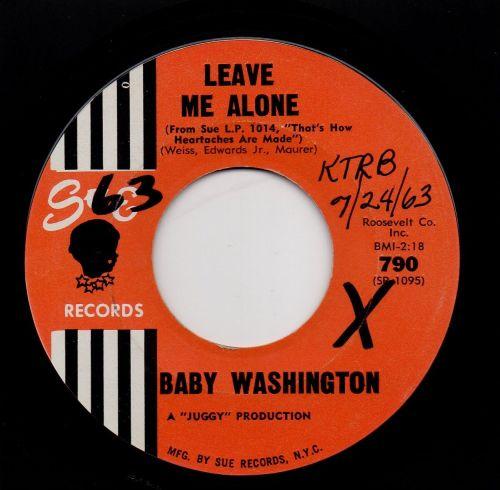 BABY WASHINGTON - LEAVE ME ALONE