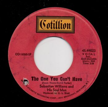 SEBASTIAN WILLIAMS and HIS SOUL MEN - THE ONE YOU CAN'T HAVE