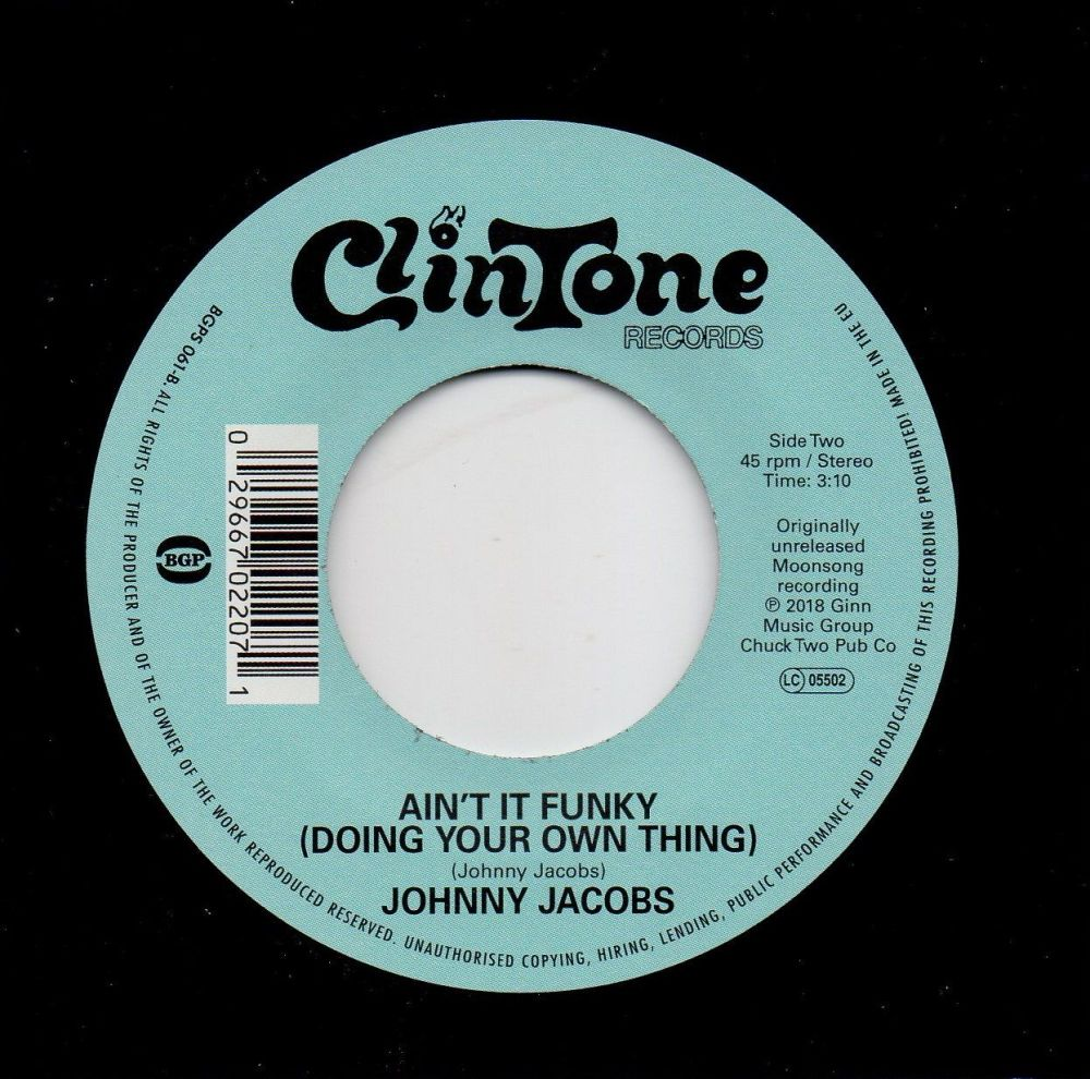 JOHNNY JACOBS - AIN'T IT FUNKY (DOING YOUR OWN THING)