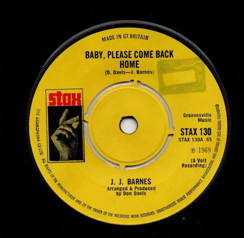 J. J. BARNES - BABY, PLEASE COME BACK HOME