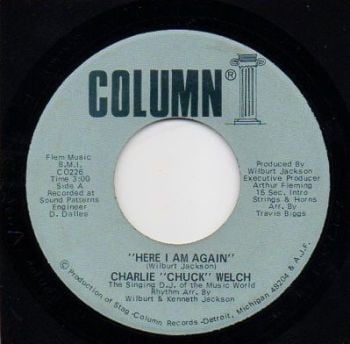 CHARLIE 'CHUCK' WELCH - HERE I AM AGAIN