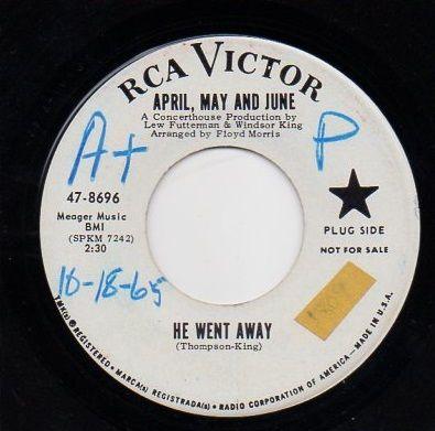 APRIL, MAY & JUNE - HE WENT AWAY