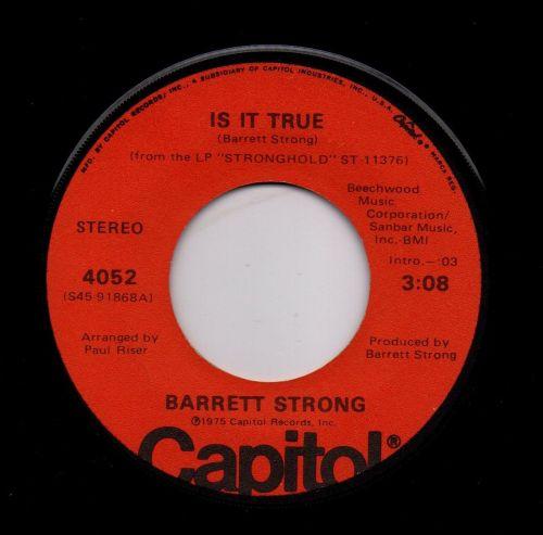 BARRETT STRONG - IS IT TRUE
