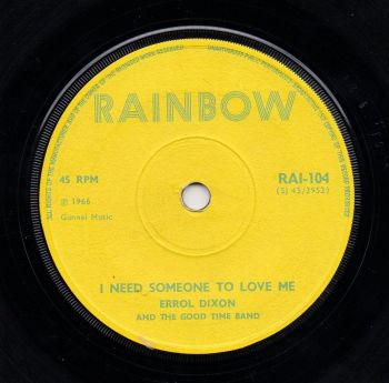 ERROL DIXON - I NEED SOMEONE TO LOVE ME