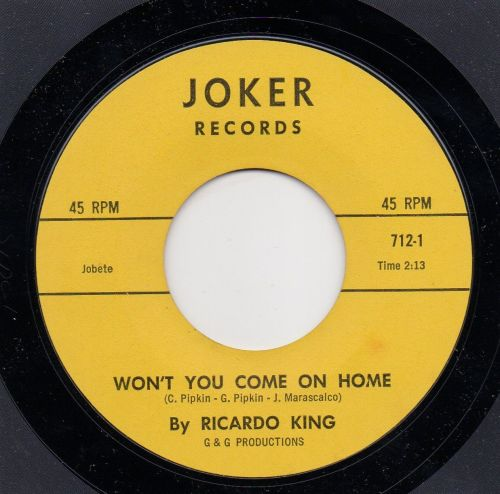 RICARDO KING - WON'T YOU COME ON HOME