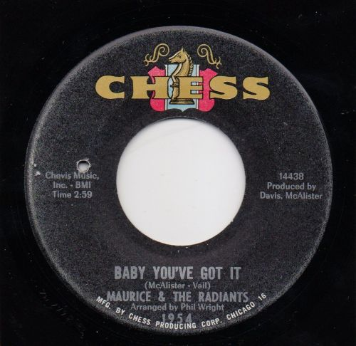 MAURICE & THE RADIANTS - BABY, YOU'VE GOT IT