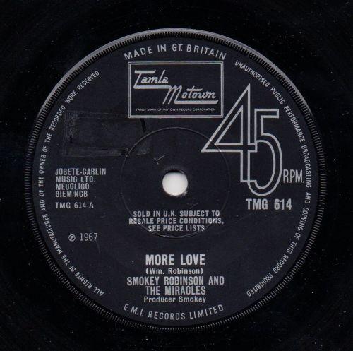 SMOKEY ROBINSON & THE MIRACLES - MORE LOVE