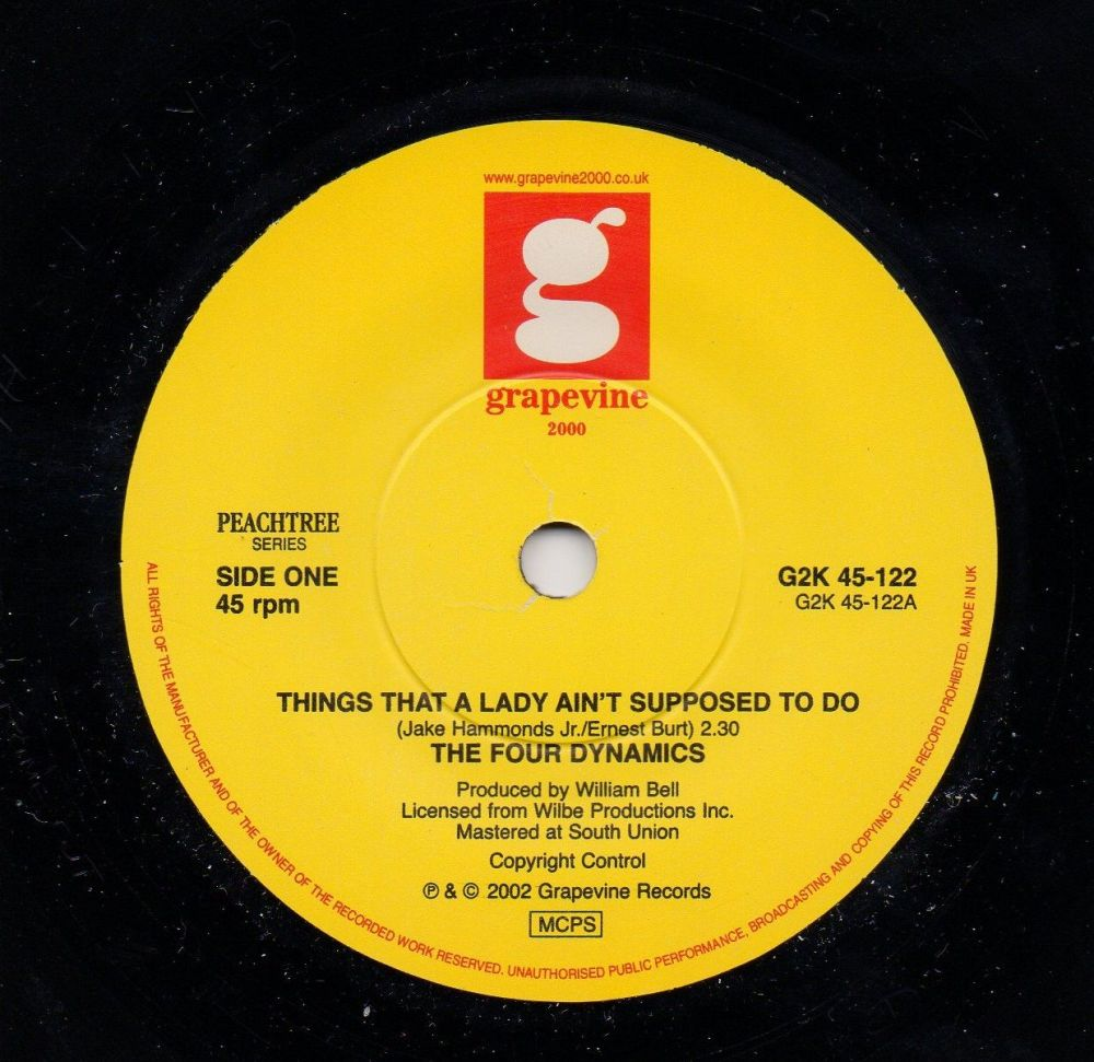FOUR DYNAMICS - THINGS THAT A LADY AIN'T SUPPOSED TO DO