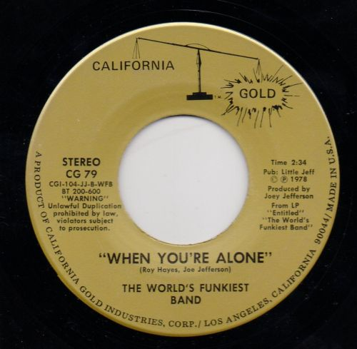 THE WORLD'S FUNKIEST BAND - WHEN YOU'RE ALONE