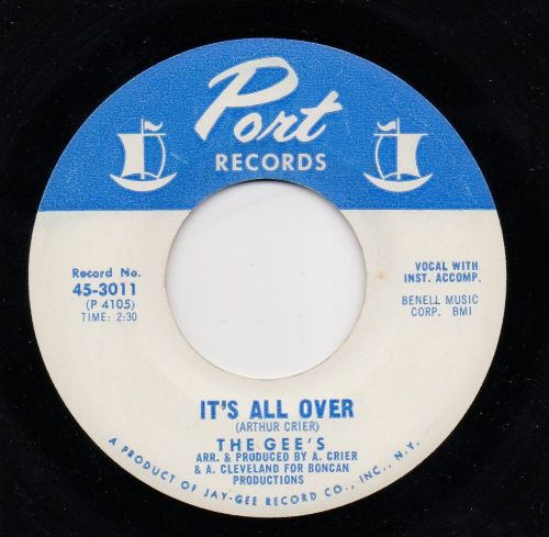 THE GEE'S - IT'S ALL OVER