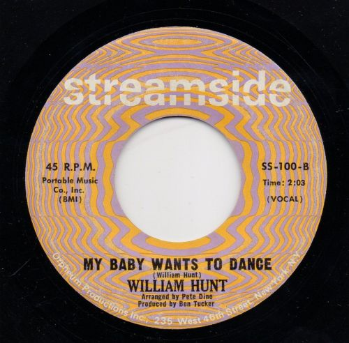 WILLIAM HUNT - MY BABY WANTS TO DANCE