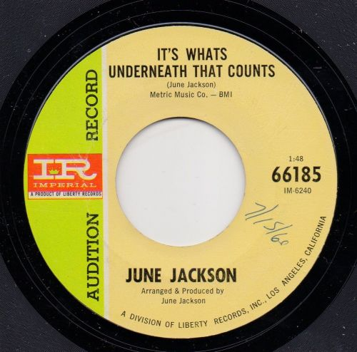 JUNE JACKSON - IT'S WHATS UNDERNEATH THAT COUNTS