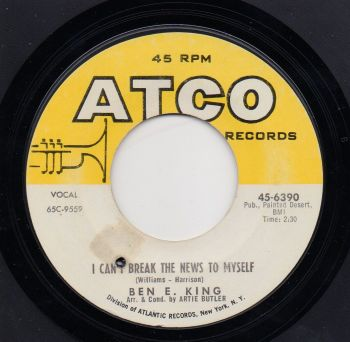 BEN E. KING - I CAN'T BREAK THE NEWS TO MYSELF