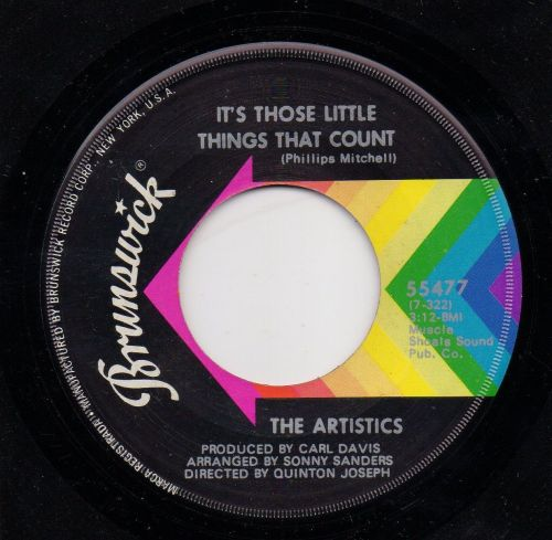 ARTISTICS - IT'S THOSE LITTLE THINGS THAT COUNT