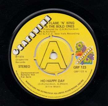 FLAME 'N' KING & THE BOLD ONES - HO HAPPY DAY