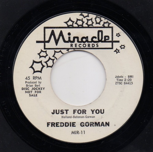FREDDIE GORMAN - JUST FOR YOU