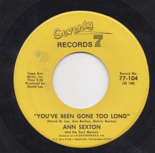 ANN SEXTON - YOU'VE BEEN GONE TOO LONG