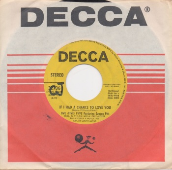 JIVE (FIVE) FYVE FEATURING EUGENE PITT - IF I HAD A CHANCE TO LOVE YOU