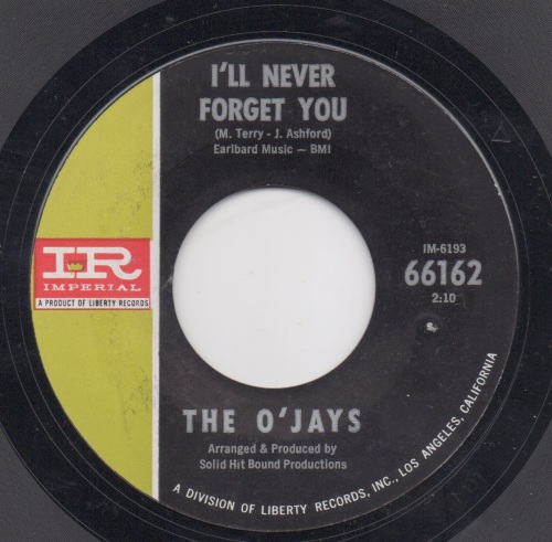 O'JAYS - I'LL NEVER FORGET YOU
