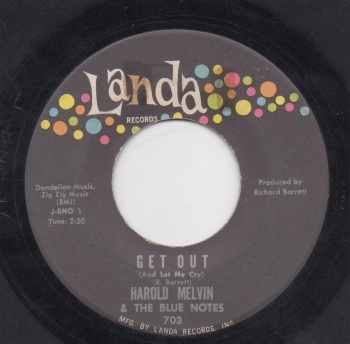 HAROLD MELVIN & THE BLUE NOTES - GET OUT