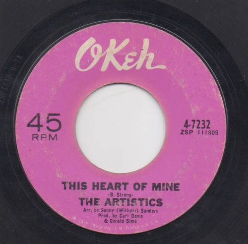 THE ARTISTICS - THIS HEART OF MINE